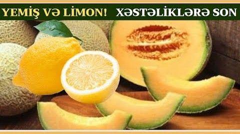 Yemiş və Limon suyu qarışımının faydaları