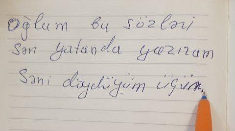 Atanın 5 yaşlı oğluna yazdığı dünyanı ağladan məktubu  - Səni döydüyüm üçün...