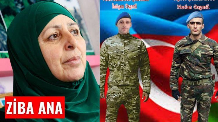 """ZİBA ANA """"Qayınım üçün qazılan qəbirdə iki şəhid oğlumu dəfn etdik"""""""